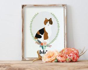 personalized pet portrait gift